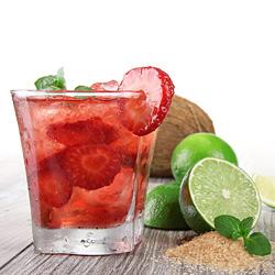 Strawberry Caipirinha Cocktail