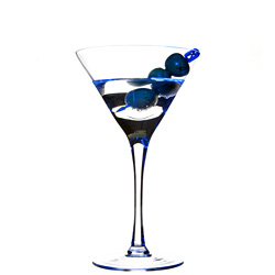 Stoli Blueberry Vodka Martini