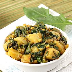 Aloo Palak Curry (Dry)