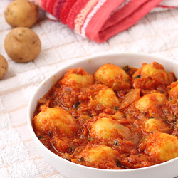 Potato Curry with Baby Potatoes