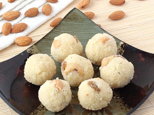 Rava Laddu with Coconut Recipe