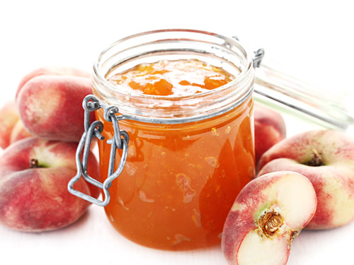 Peach freezer jam recipe easy peach canning with pectin for Peach preserves no pectin