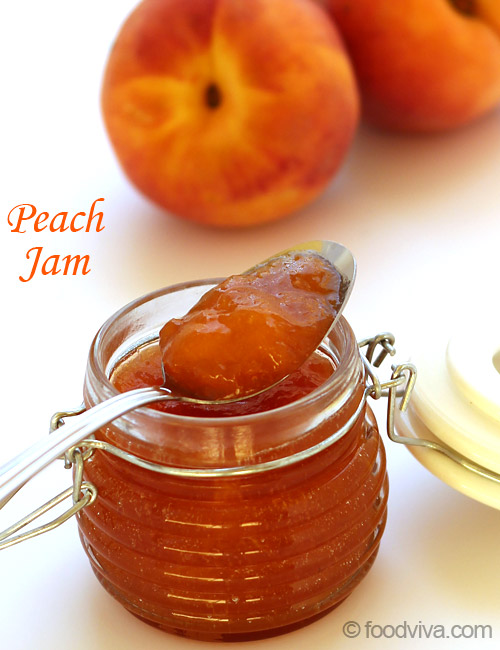 Peach Jam without Pectin