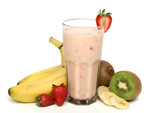 Strawberry Kiwifruit Smoothie with Orange Juice