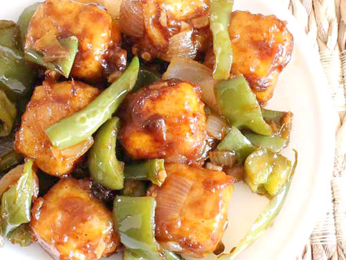 Chilli Paneer Recipe Chinese Veg Chilli Paneer Dry Recipe