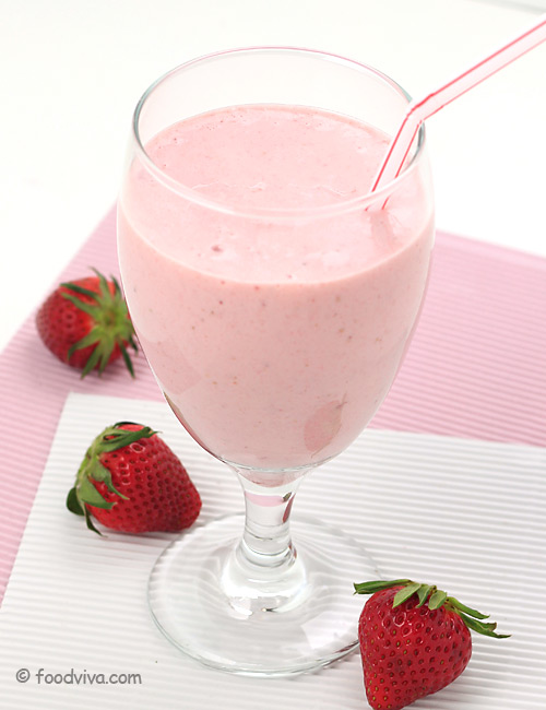 Strawberry cream shake
