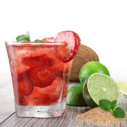 Strawberry Caipirinha Cocktail