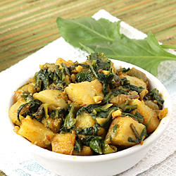 Aloo Palak Curry (Dry)