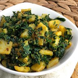 Aloo Methi Curry (Dry)