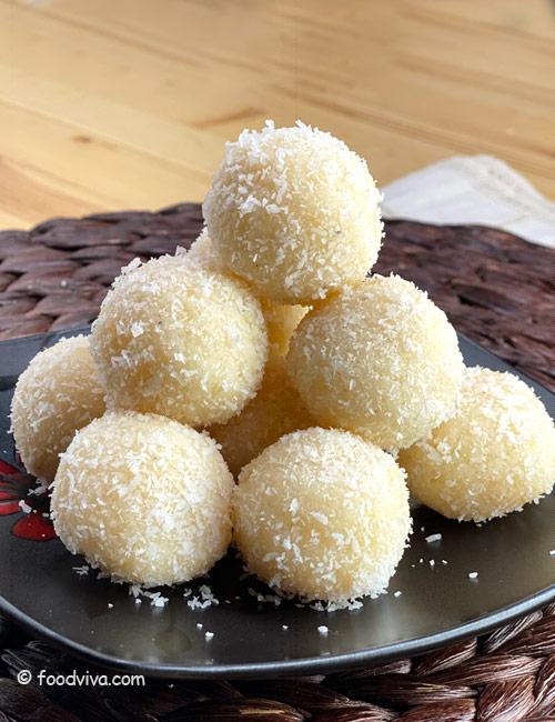 Easy Coconut Laddu Recipe