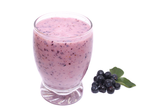 Blueberry Smoothie with Milk