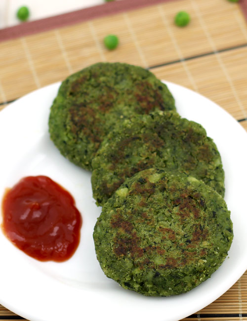 Spinach and Aloo Tikki