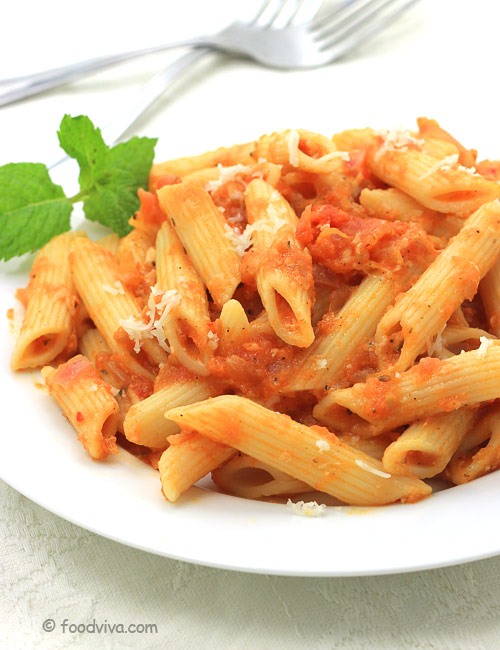 How to Make Pasta In Red Sauce with Tomato